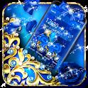 Blue Diamond Bow Theme icon