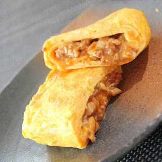 Japanese Rolled Omelette with Ground Beef Filling