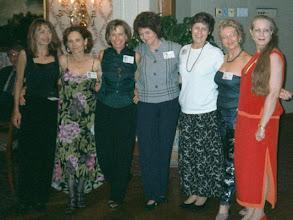 Photo: The reunionettes at the 2000 reunion. Barbara (Novosad) Stueve, Nancy (Seiler) McCarthy, Linda (Wilson) Mitchell, Michele (Baldree) Bibb, Carol (Craven) Barnes, Suzy (Wright) Thomas, Carolyn (McGill) Hoelscher