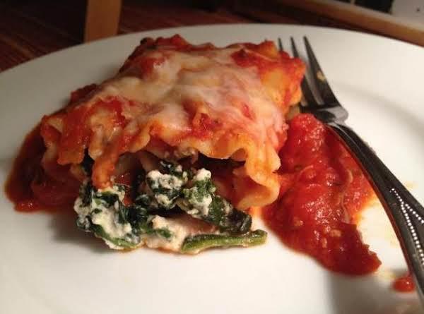 Spinach Lasagna Rollups Recipe