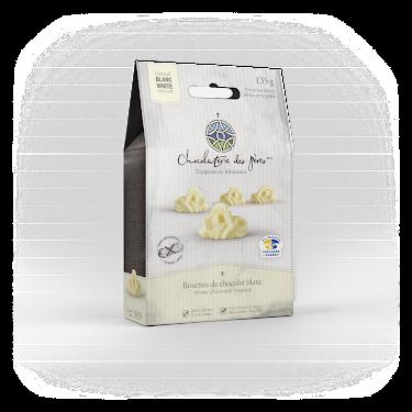 Chocolat Rosettes de chocolat blanc Boîtes maison
