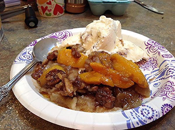 Rose Mary's Honey Pecan Peach Cobbler Recipe
