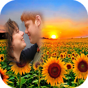 sunflower photo frames costume montage editor