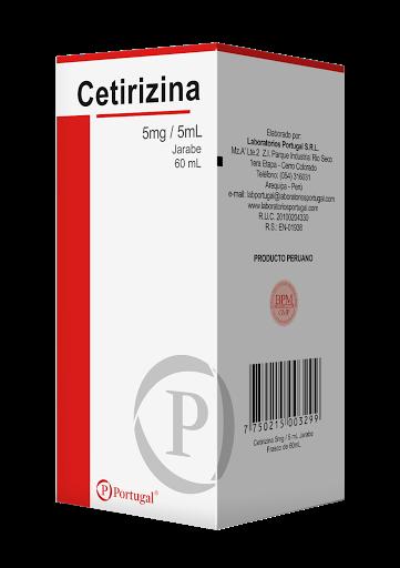 Cetirizina 5 mg/5 mL x Jarabe 60 mL Laboratorios Portugal