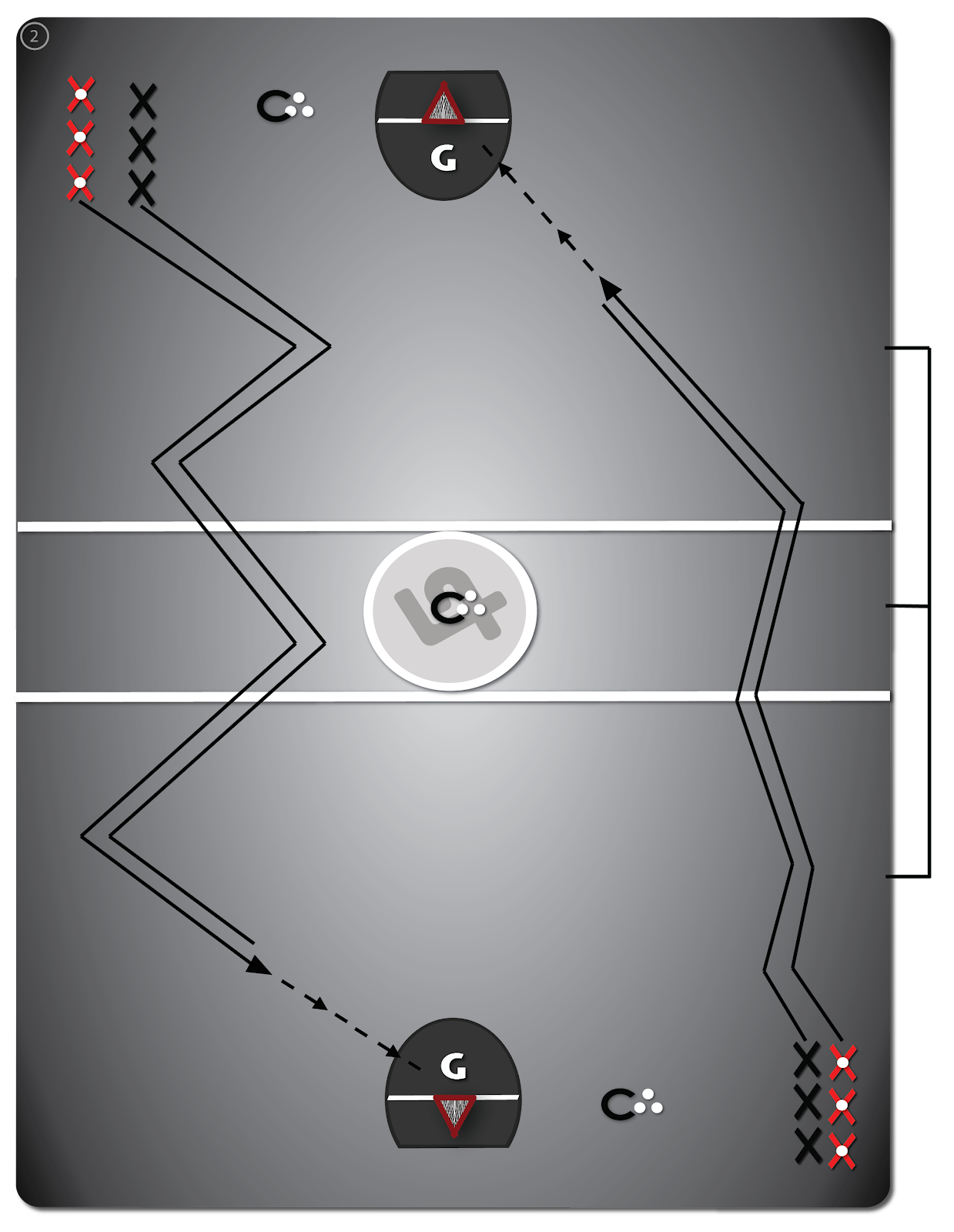Lacrosse Drill: Dodges - Drill #2 - Open Floor Dodging and Checking