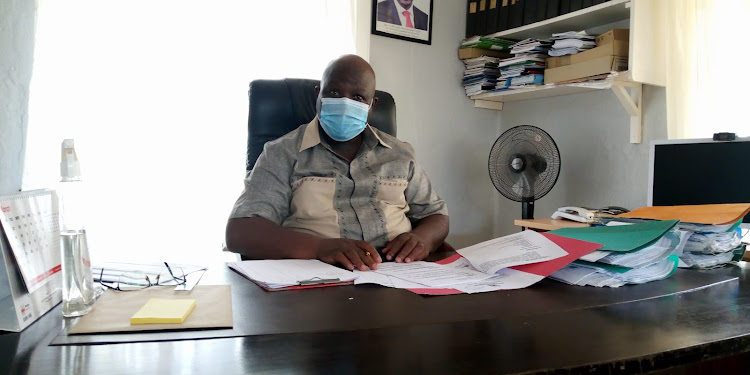 Kwale county commissioner Joseph Kanyiri in his office on Friday, March 19, 2021.