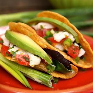Blood Orange Halibut Ceviche Tacos