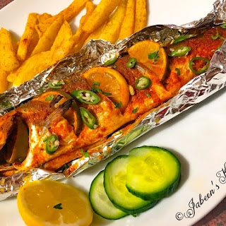 Tandoori Fish with Lemon & Lime.