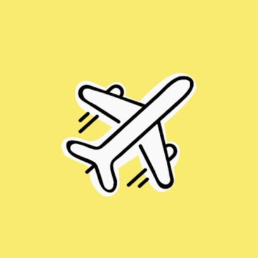 Airplane Icon - Instagram Highlight template