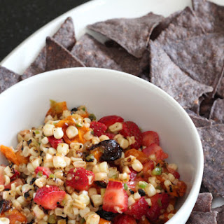 Charred Corn Roasted Tomato and Strawberry Salsa