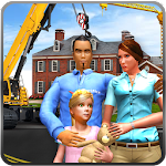 Virtual Father Happy Family Home Construction Site Icon