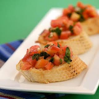 Tomato and Basil Bruschetta.