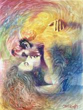 """Photo: """"Nômades Amantes do Tempo - Hariel e Aladiah"""". Óleo / tela, 122,5 x 91 cm, 1998, Mossoró, Rio Grande do Norte. Coleção: Claurênia Henrique, João Pessoa - Pb."""