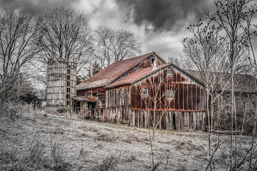 Abandoned farm in Winter by Lynn Kirchhoff - Buildings & Architecture Decaying & Abandoned ( farm, barn, silo, decay, abandoned,  )