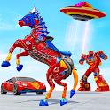 Horse Robot Car Game – Space Robot Transform Wars icon