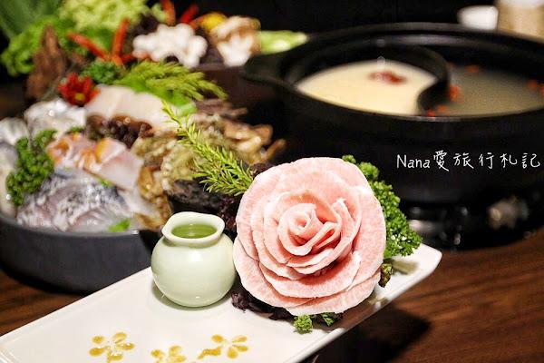 井閣鍋物料理。澳洲9+和牛、日本鹿耳島A4和牛、玫瑰花松阪豬、斯里蘭卡藍蟹,精緻食材還有專人桌邊服務就在員林