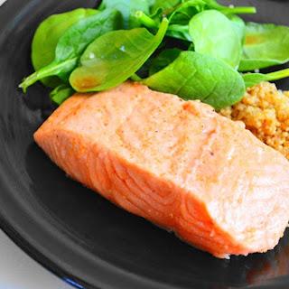Maple Bourbon Broiled Salmon