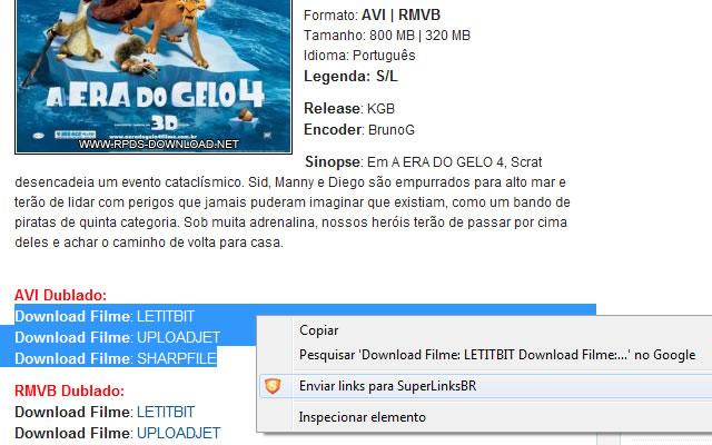 Plugin para downloads com SuperLinksBR