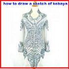 To Draw a Sketch of Kebaya icon