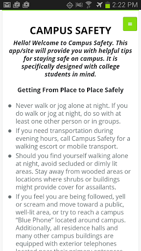 College Safety Study