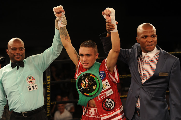 DeeJay Kriel crowned the WBC minimum weight international champion during the Palace Pandemonium boxing event at Emporers Palace on March 03, 2018.