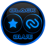 Flat Black and Blue Icon Pack ✨Free✨ 4.9