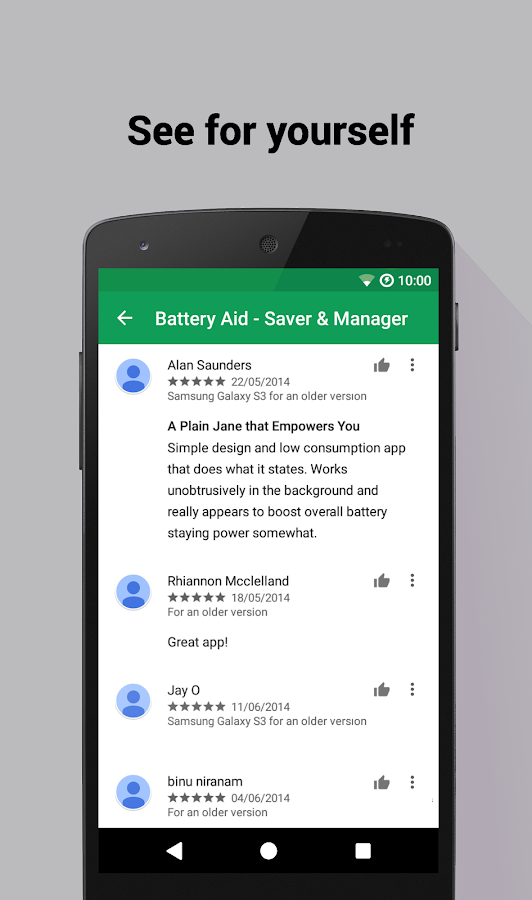 Battery Aid 2 - Saver/Manager- screenshot