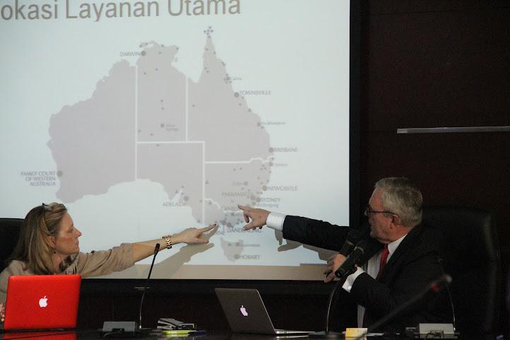 Hakim Family Court of Australia Berbagi Pengalaman di Badilag