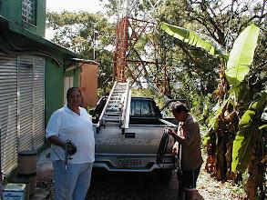 Photo: Nossa equipe começa o transporte de material e ferramentas para dar inicio aos trabalhos