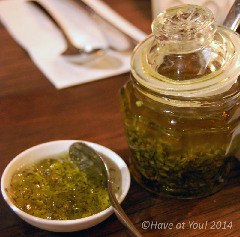 mint jelly and chimichurri