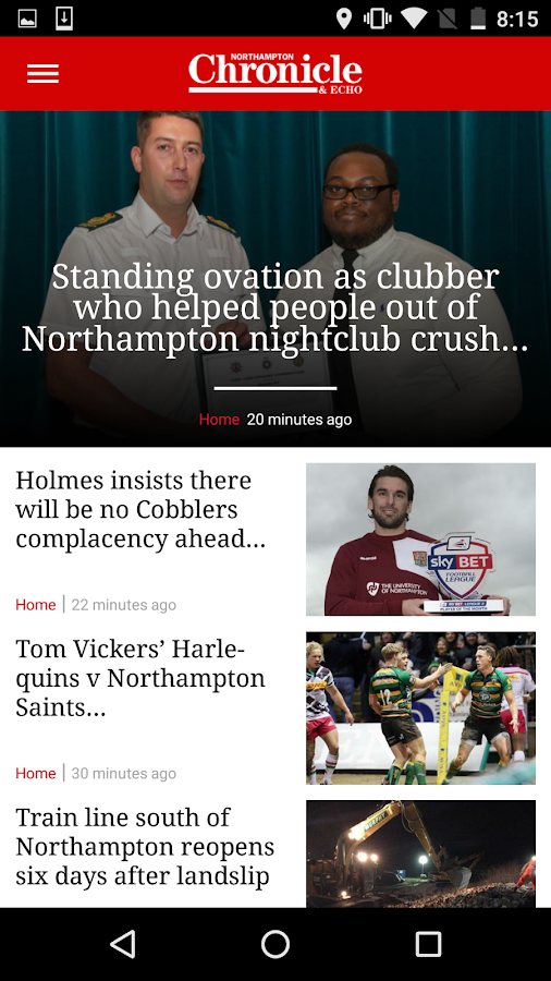 Northampton Chronicle and Echo- screenshot