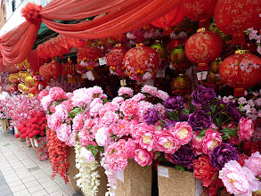 Photo: KL (Kuala Lumpur) - stuff selled everywhere for upcoming chinese new year from 3rd February