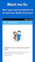 Screenshot of SMS Blocker. Clean Inbox
