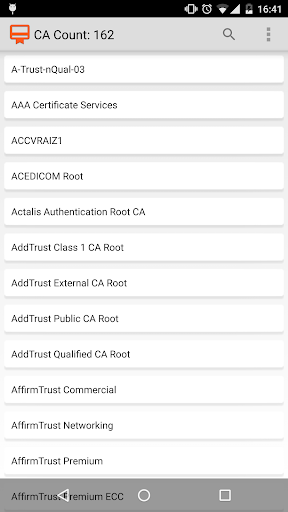 CA Certificates on Android