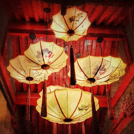Umbrellas hanging  by Francisco Little - Instagram & Mobile Android ( chinese, china, light, umbrellas, hanging, lighting, decoration, lights )