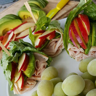 Apple Avocado Turkey Wraps.