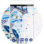 Blue Sea Theme: Lnk and Messy Wallpaper HD APK icon