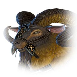 板金鎧の山羊