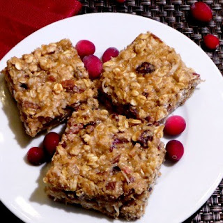 Cranberry Oatmeal Pecan Bars.