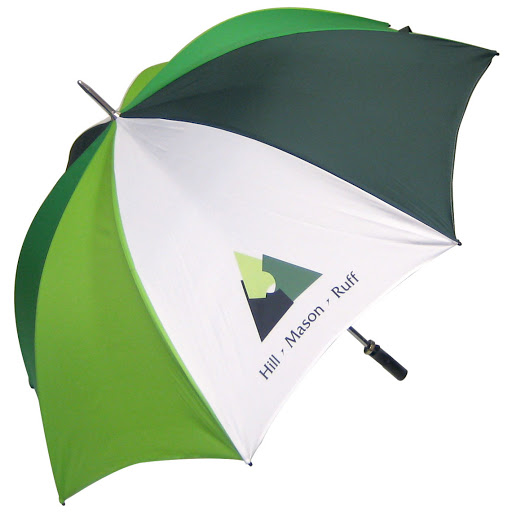 Classic Golf Umbrella Dark Green/Light Green & White