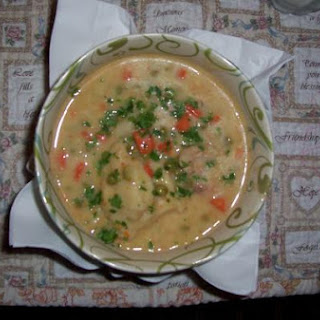 Thick Rich Chicken Soup and Dumplings.