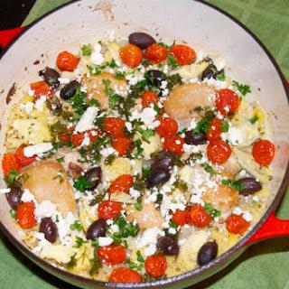 Mediterranean Chicken Pasta Bake.
