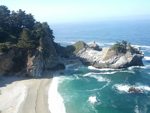 Photo: Mcway Falls at Julia Pfeiffer Burns State Park - an 80 foot waterfall directly into the sea.