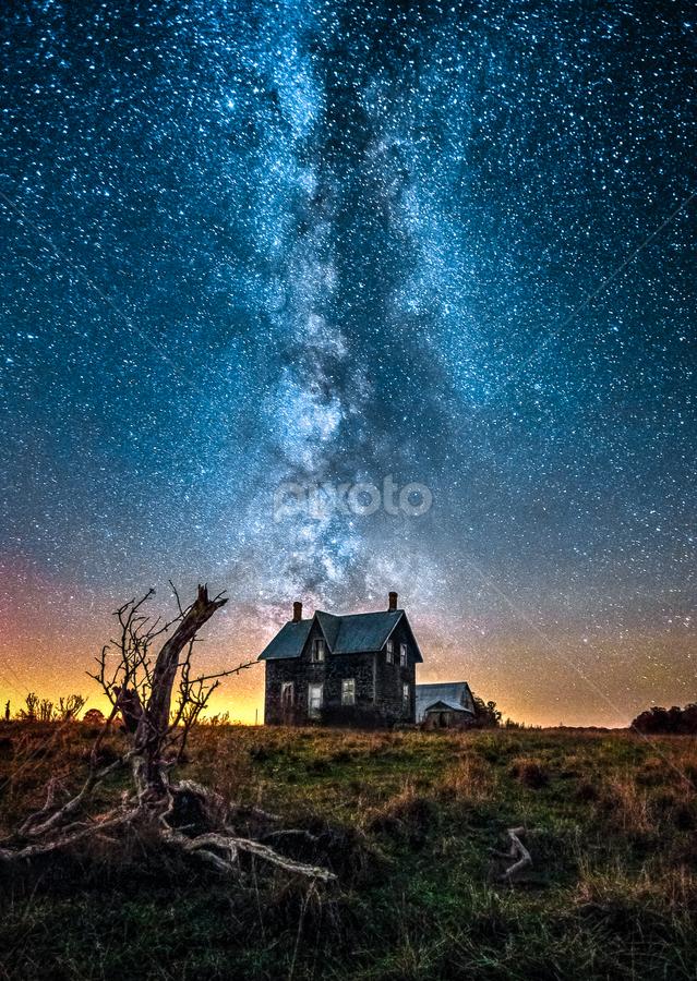 Galaxy Rising by Trevor Pottelberg - Landscapes Starscapes ( autumn, stars, fall, dark skies, night, north, astronomy, bruce peninsula,  )