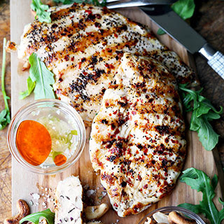 Easy Grilled Chicken With Hot And Sweet Sauce.