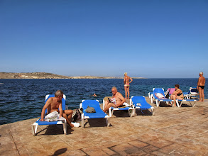 Photo: 505 SPB.Qawra.hôtel Dolmen, plage privée, transats