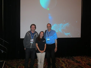 Photo: With my comet-hunting heroes, Nick Howe & David Levy!