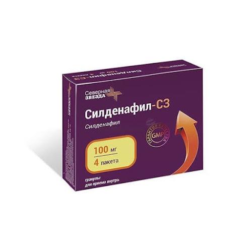 Силденафил-СЗ гран. д/приема внутрь 100мг пак. 1,2г 4 шт.