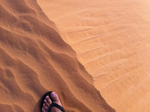 Photo: My foot on the sand dune
