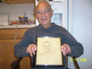 Photo: One of dad's buddies in the Army drew this portrait of dad.  A very handsome guy!